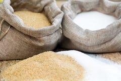 Diversos tipos de azúcar Imagen de archivo libre de regalías