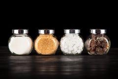 Diversos tipos de azúcar Fotografía de archivo libre de regalías