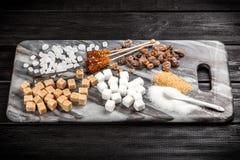 Diversos tipos de azúcar Foto de archivo
