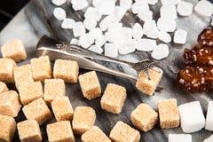 Diversos tipos de azúcar Imagenes de archivo