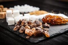 Diversos tipos de azúcar Imagen de archivo