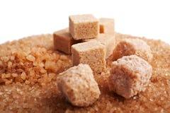 Diversos tipos de azúcar de caña Imágenes de archivo libres de regalías