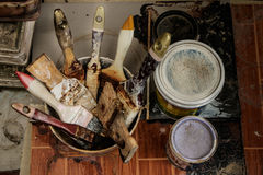 Diversos tipos de brocha Foto de archivo libre de regalías