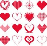 Diversos tipos de corazones libre illustration