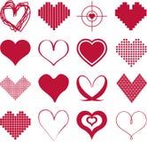 Diversos tipos de corazones ilustración del vector