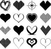 Diversos tipos de corazones stock de ilustración