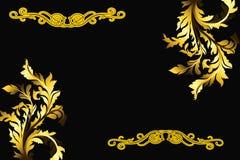 Diversos tipos de diseños de la frontera Imagen de archivo