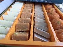 Diversos tipos de dulces Fotos de archivo libres de regalías