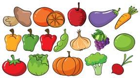 Diversos tipos de frutas y verduras Imágenes de archivo libres de regalías