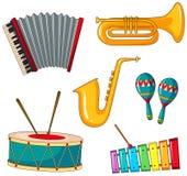 Diversos tipos de instrumento musical ilustración del vector