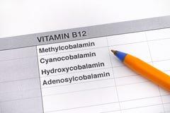 Diversos tipos de la vitamina B12 imagen de archivo libre de regalías