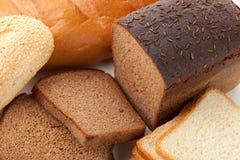 Diversos tipos de pan Imagen de archivo libre de regalías
