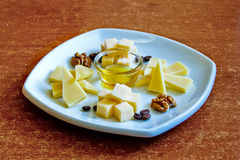 Diversos tipos de queso Foto de archivo
