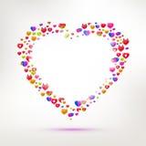 Diversos tipos de símbolo del amor ilustración del vector