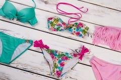 Diversos tipos de sistema del bikini de las mujeres Fotos de archivo libres de regalías