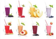 Diversos tipos de smoothies Imagen de archivo