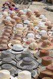 Diversos tipos de sombreros tradicionales de Colombia Fotos de archivo