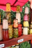 Diversos tipos de verduras en el ácido fotografía de archivo libre de regalías