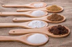 Diversos tipos del azúcar II Foto de archivo libre de regalías