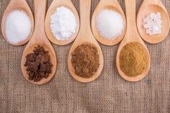 Diversos tipos del azúcar VI Fotografía de archivo libre de regalías