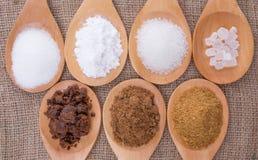 Diversos tipos del azúcar X Fotos de archivo libres de regalías