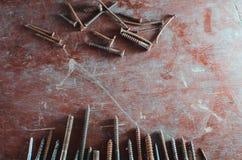 Diversos tornillos y pernos Foto de archivo libre de regalías