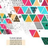Diversos triángulos coloreados Foto de archivo libre de regalías