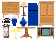Diversos vectores de los muebles stock de ilustración