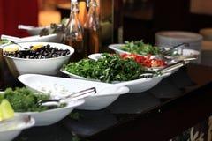 Diversos verdes y verduras Foto de archivo