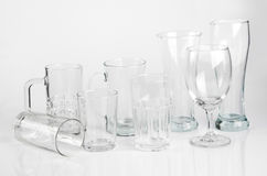 Diversos vidro-trabalhos transparentes Fotografia de Stock Royalty Free