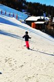 Divertendosi, la Svizzera, alpi svizzere Fotografie Stock Libere da Diritti
