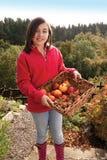 Divertendosi un giorno di autunno Fotografia Stock