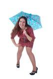 Divertente e piovoso Fotografia Stock