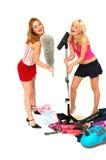 Divertimento 2 das tarefas domésticas Fotografia de Stock Royalty Free