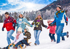 Divertimento 23 do inverno Fotos de Stock Royalty Free