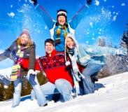 Divertimento 26 di inverno Fotografie Stock Libere da Diritti