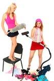 Divertimento 6 das tarefas domésticas Fotos de Stock
