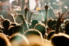 Divertimento ad un concerto in tensione Fotografia Stock