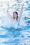 Divertimento alla piscina Fotografia Stock Libera da Diritti