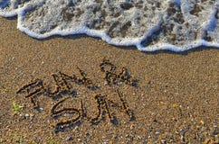 Divertimento & sol - composição do verão Imagens de Stock Royalty Free