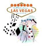 Divertimento astratto Meerkat, benvenuto di schizzo due a Las Vegas favoloso Fotografia Stock
