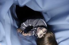 Divertimento azul da câmara de ar Fotografia de Stock