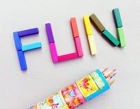 Divertimento a colori i pastelli Fotografia Stock