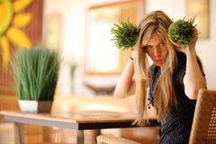 Divertimento com alimento saudável Fotografia de Stock Royalty Free