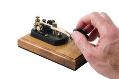 Divertimento com a ferramenta velha de uma comunicação fotografia de stock royalty free
