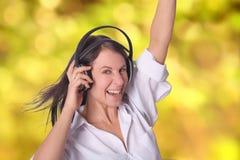Divertimento com música Fotografia de Stock Royalty Free