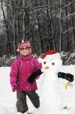 Divertimento con i pupazzi di neve Fotografia Stock Libera da Diritti
