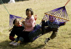 Divertimento con il hammock fotografia stock