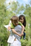 Divertimento con la madre Fotografia Stock Libera da Diritti