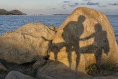 Divertimento con le ombre Fotografia Stock Libera da Diritti
